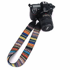 Camera Neck Strap Color Stripe Retro For Nikon Canon Sony Fujifilm Olympus