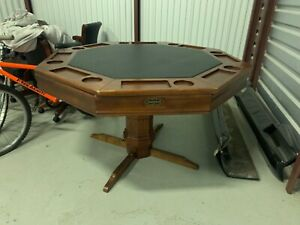 Brunswick Poker Table with 4 Chairs (Flip Top)