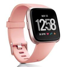 Fitbit Versa Bracelet Replacement Silicone Band Watchband Fitness + 6x Foil