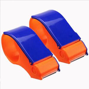 2x PACKING TAPE Dispenser GUN 70mm Hand Parcel Sealing Packaging Roll Cutter