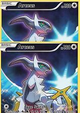 2 X MYTHICAL ARCEUS XY116 Mint Pokemon  Card PROMO FULL ART HOLO FOIL Black Star