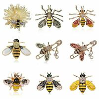 Fashion Cute Animal Bee Crystal Enamel Brooch Pin Costume Badge Jewelry Gift New