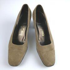 Salvatore Ferragamo Brown Suede Pumps 5.5 B Heels