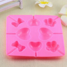 Silicone Heart Cake Cookie Chocolate Mold Lollipop Pop Baking Tray Stick Mould