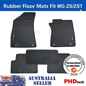 Premium Quality All Weather Rubber Car Floor Mats Fit MG ZS ZST 2017~2021