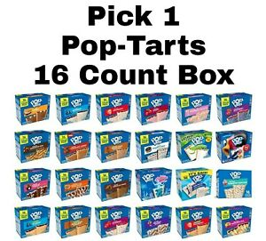 Kellogg's Pop Tarts Toaster Pastries 16 Count Pop-Tarts Pick 1 Box