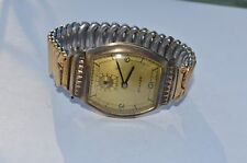 Vintage BENRUS  art deco Mens watch with With Gold Filled Flex Let Band Model BB