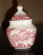 "GRINDLEY VINTAGE PINK SUGAR BOWL with LID ""Staffordshire England"""