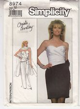 Dress Shawl Bridal Evening Party Simplicity Sewing Pattern 8974 Uncut Size 12