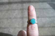 vtg TURQUOISE sterling silver ring native american indian 5.5 OLD PAWN