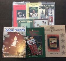 Lot of 8 Quilt Applique Primitive Patterns Christmas Ornaments Reindeer Santa