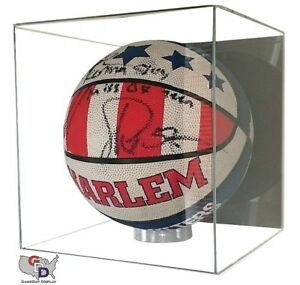 Acrylic Full Size Basketball Display Case Wall Mount Cube NBA NCAA C