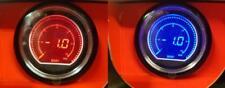 60 mm Evo coche Boost Gauge 2 Bar rojo y azul Display LCD Digital