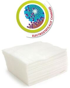 PACK 50 STATIC FLOOR MOP DRY REFILL WIPES CLOTH ATTRACT DUST LAMINATE FLOORING