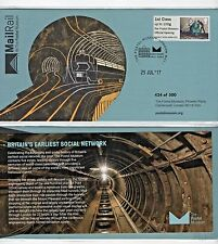 POSTAL MUSEUM Launch FDC MAIL RAIL OFFICIAL 500 Ltd. Ed. JULY 17 Post  & Go