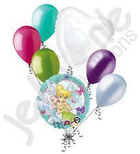 7 pc Disney Tinkerbell Fairies Balloon Bouquet Party Decoration Happy Birthday