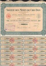 INDOCHINA, 1925. Bond 100 Fr, Cho Don Mining Company