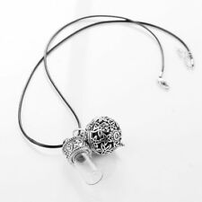 """Oil Diffuser Necklace Aromatherapy Glass Vial Bottle Jewelry Silver Black 24"""""""