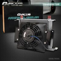 """30 Row 10AN Universal Engine Transmission Oil Cooler+7"""" Fixed Cooling Fan Kit"""