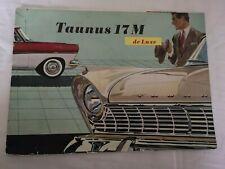 Prospekt Broschüre Taunus 17M de Luxe