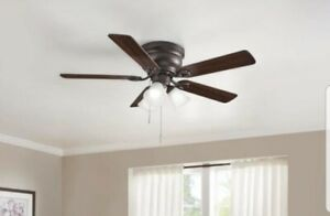 Clarkston II 44 in. LED Indoor Oil Rubbed Bronze Ceiling Fan with Light Kit