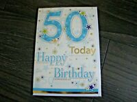 50 TODAY! HAPPY BIRTHDAY MALE  50 50 50  CARD ESSENTIALS NEW FREE POSTAGE