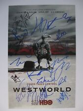 WESTWORLD SEASON 2 CAST SIGNED 11x17 PHOTO JEFFREY WRIGHT JAMES MARSDEN  DC/COA