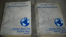 2001 FORD EXPLORER SPORT TRAC Service Shop Repair Manual Set 2 VOLUME OEM FORD