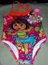 Dora the Explorer One Piece Bathing Suit Swimsuit Toddler Girls 3T NWT Orange