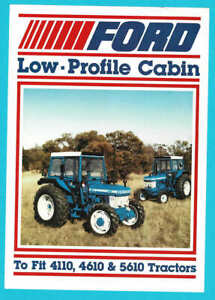1984 Ford Low Profile Cab for Ford 4110 4610 & 5610 Tractor Australian Brochure