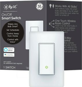 C by GE Wi-Fi Smart Switch (On/Off Paddle)