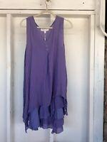 Pretty Angel Double Layer Dress L. Purple
