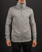 Allsaints Men's Eturn Fumel Neck Grey Hoodie  - MF058H - Convenient Operation