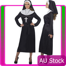 Womens Nun Costume Ladies Mother Superior Erotic Sister Religious Fancy Dress