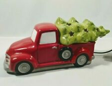 Scentsy *Special Delivery* Red Retro Farm Truck & Christmas Tree Lid Full Warmer