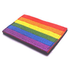 LGBT Pride Rainbow Flag Morale Hook Loop Embroidery Decal Sticker Emblem Patch