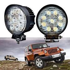 "Handy 2X 27W 4"" Round Flood LED Work Light Offroad Fog Driving SUV ATV Truck 4WD"