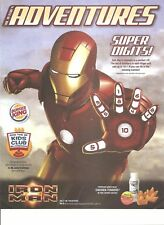 ADVENTURES VOL.19 ISSUE 4 IRON MAN THEATER PROMO FROM BURGER KING 2008