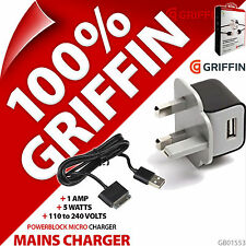 Griffin Powerblock Micro USB Mains Charger UK Plug 30 Pin Charge Sync Cable