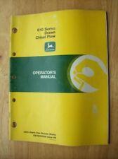Original John Deere 610 Series Drawn Chisel Plow Operators Manual Om N200098