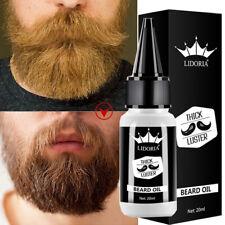 20ml Men's Organic Beard Growth Oil Enhancer Natural Beard Grow Anti Hair Loss
