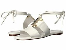 Tory Burch Womens White Gemini Link Lace Up Sandals Size 7.5 New $325