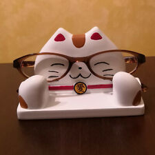 Maneki Neko Eyeglass Display Stand Desktop Tabletop Organizer Holder Lucky Cat