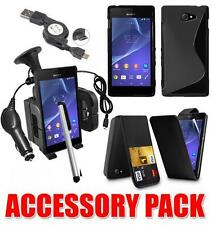 7 X ACCESSORY BUNDLE KIT FOR SONY XPERIA M2 + CASE CAR HOLDER CHARGER