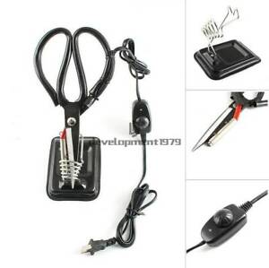 220V Electric Heating Tailor Scissors Hot Shears Knife Heated Pen Cutting Cloth