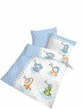 Baby Bettwäsche 100x135 cm Tiere Schlafmützen blau 27896 Biber B-Ware