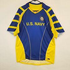 Primal Wear US Navy Short Sleeve Cycling Jersey Shirt Mens Sz L XL USN Bicycle