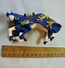Papo Medieval Knights War Horse Blue Gold Collectible Action Figure Figurine 5""