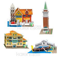 1pc Italy Flavor World Style 4 pieces CubicFun 3D Puzzle Model Jigsaw Paper