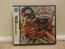 Pokemon Platinum Version Nintendo DS Authentic Case/manual/coverart/inserts Only